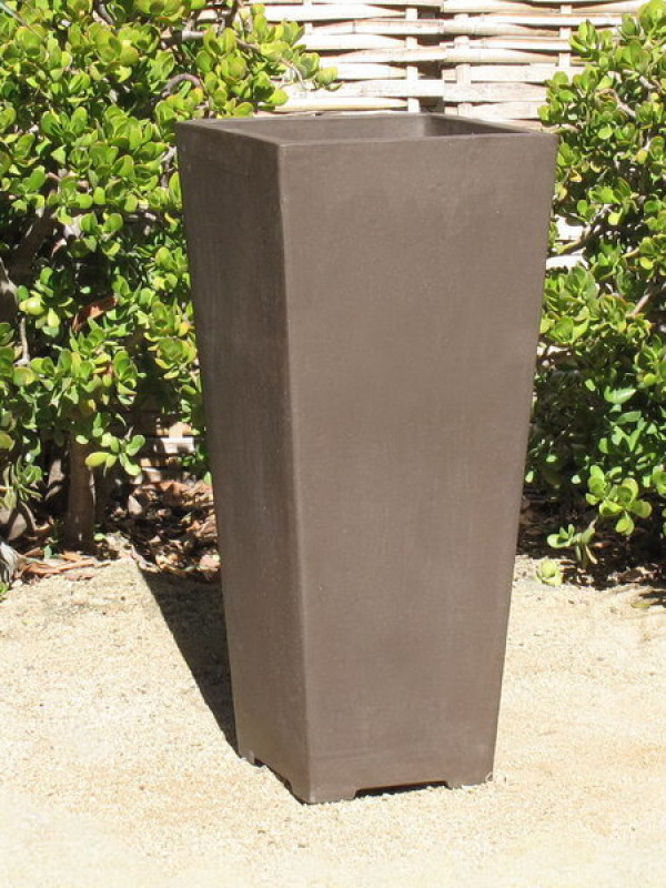 Yixing Clay Extra Tall Square Planter Ceramic