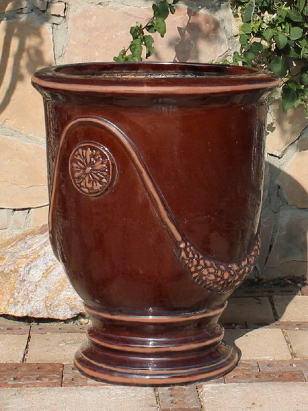 Extra Large French Urn Antiqued Ceramic