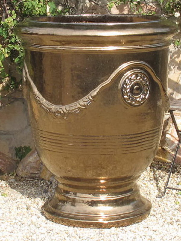 Metallic Gold French Jumbo Urn Ceramic