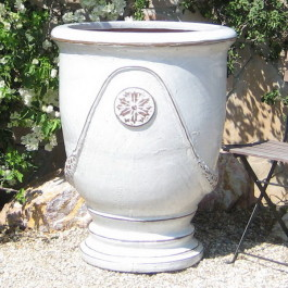 White French Jumbo Urn Ceramic