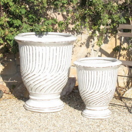 French Urns White Ceramic