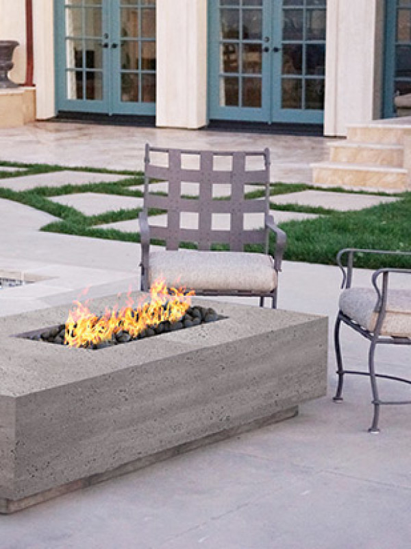 Fire Table - Concrete Rectangle
