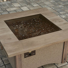 Fire Table - Bronze Glass Cover