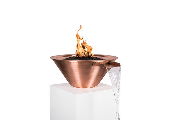 Fire Bowl with Fountain Scupper 2
