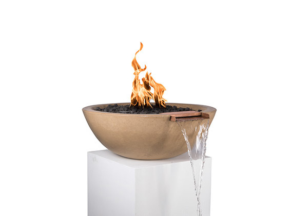 Fire Bowl with Fountain Scupper