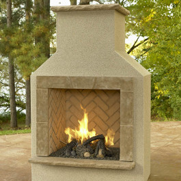 Fireplace - San Jaun with logset