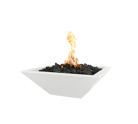 Fire Bowl - Shallow Square Fire Bowl