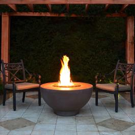 Fire Bowl - Concrete Chocolate Sienna