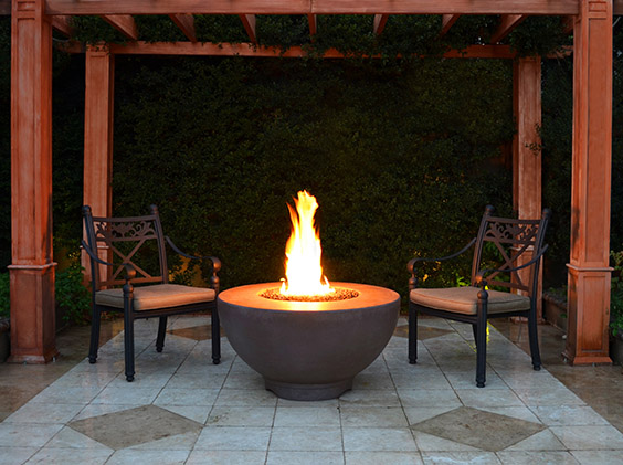Fire Bowl - Concrete Chocolate Sienna
