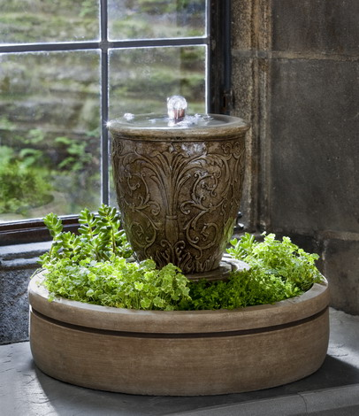M-Series Arabesque Spa Fountain with Planter