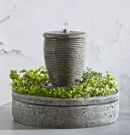 M-Series Ribbed Spa Fountain with Planter