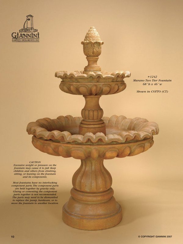 Murano Two Tier Fountain