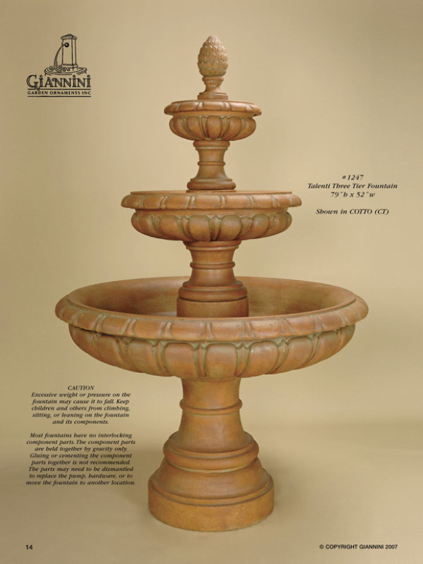 Talenti Three Tier Fountain