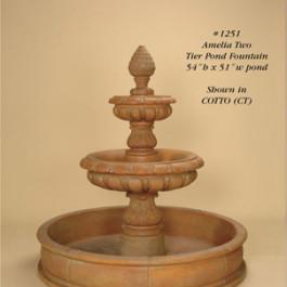 Amelia Two Tier Pond Fountain