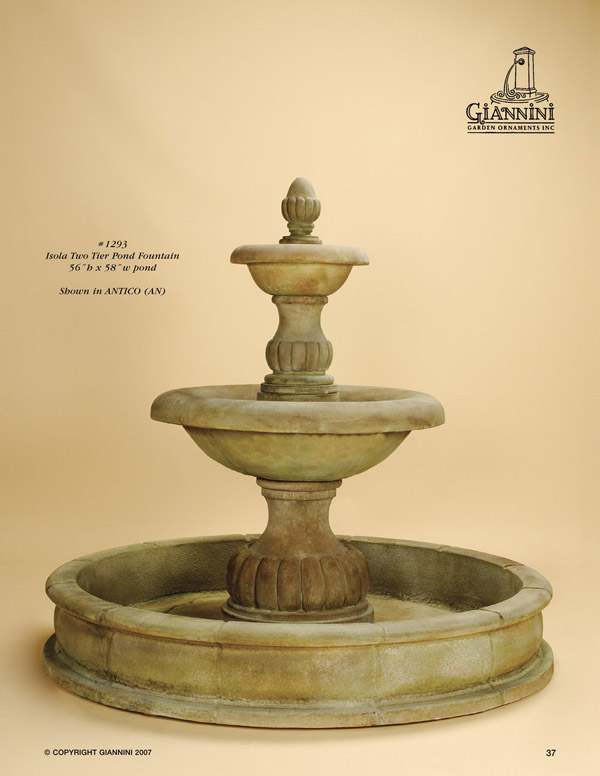 Isola Two Tier Pond Fountain
