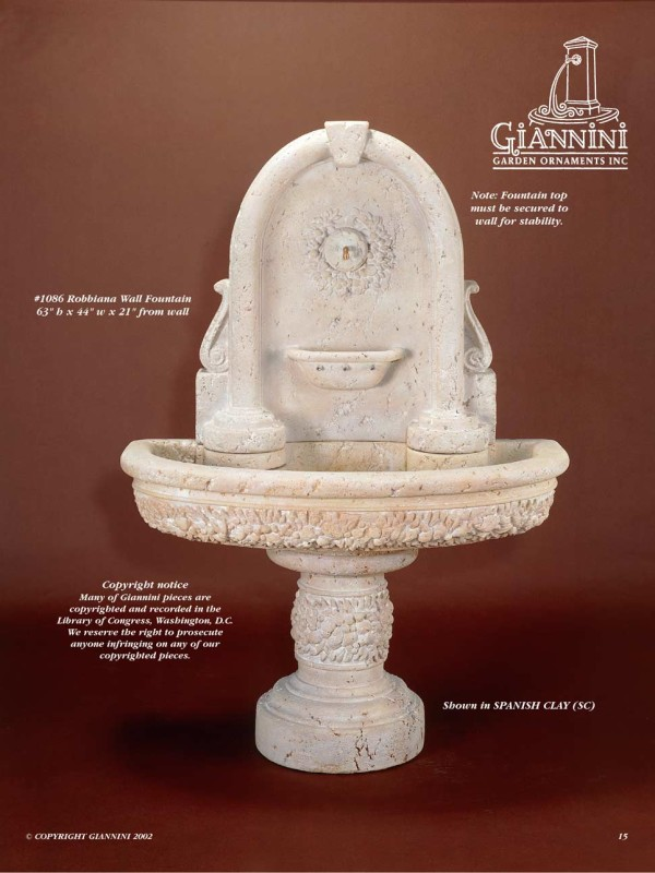 Robbiana Wall Fountain