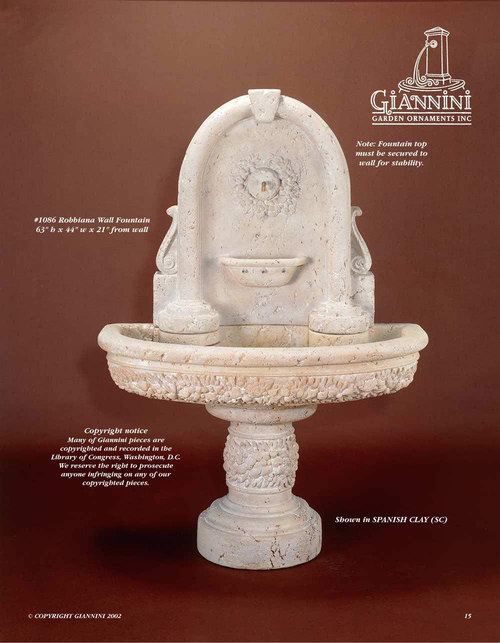 Robbiana Wall Fountain