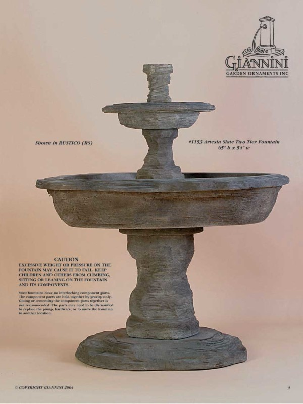 Artesia Slate Two Tier Fountain
