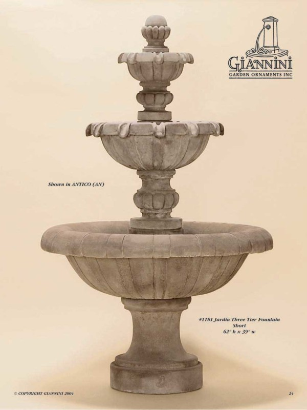 Jardin Three Tier Fountain Short