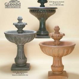Alba Tall Fountain, Alba Short Fountain, Bergamo Fountain