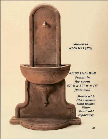 Livia Wall Fountain for spout