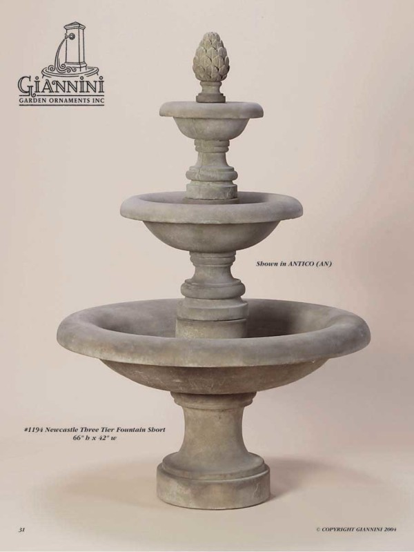 Newcastle Three Tier Fountain Short