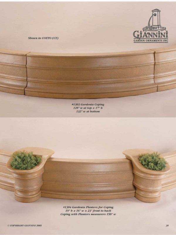 Gardenia Coping, Gardenia Planters for Coping