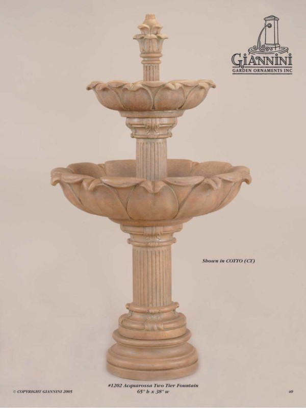 Acquarossa Two Tier Fountain