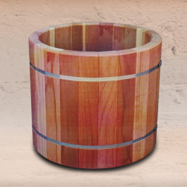 Planter Barrel Tubs with Stainless Steel Bands