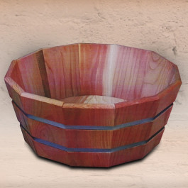 Planter Shallow Octagonal with Stainless Steel Bands
