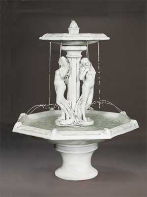 Three Graces Fountain with Octagon Bowl