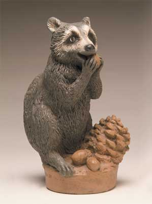 Raccoon for Birdbath