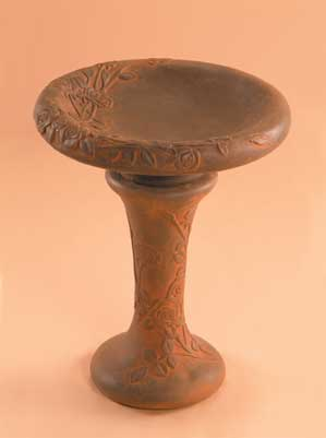 Autumn Rose Birdbath