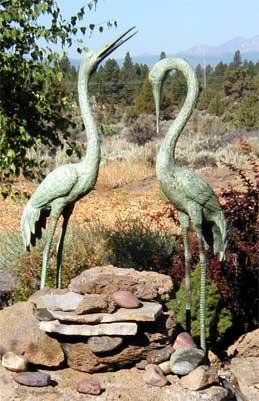 Large Cranes (Pair)