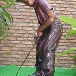 Boy Golfer Putting
