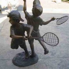 Boys Playing Tennis