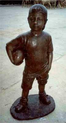 Boy Holding Football