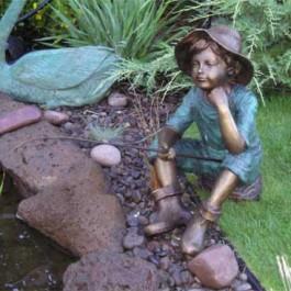 Boy on Rock Fishing