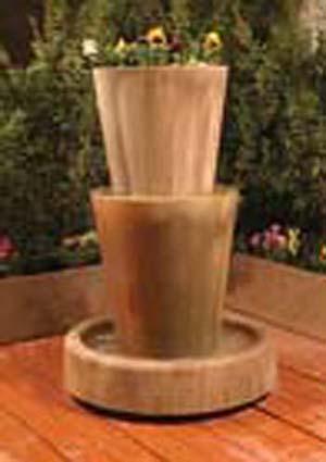 Bi-Level Jug Planter Fountain