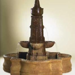 Brescia Fountain with Quad Pond