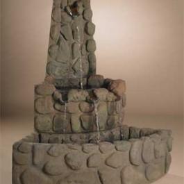 Corner River Rock Fountain
