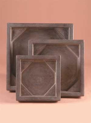 Square Planter Saucer, Medium