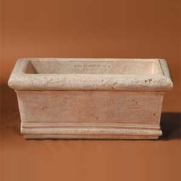 Ancient Rectangular Planter Plain, Large