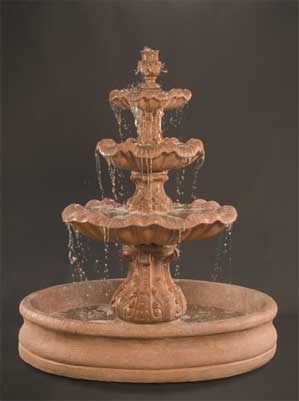 "Italian 3-Tier Fountain with 55"" Basin"