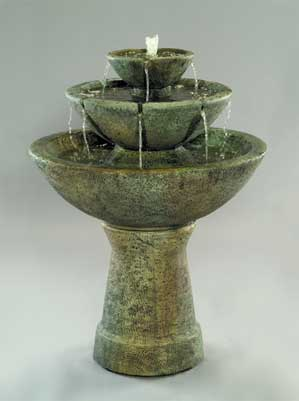 Color Bowl with Lips Fountain, 3-Tier Tall