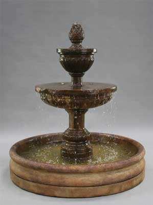 "Mediterranean Fountain with 46"" Basin"