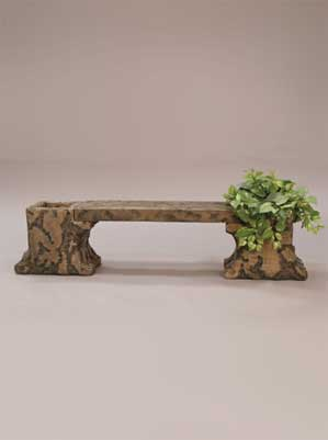 Weathered Planter Bench