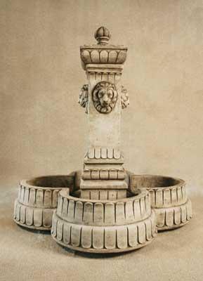 Lion Column Fountain