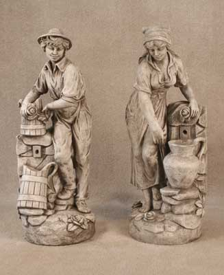 Boy and Girl at Well