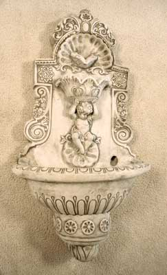 Large Cherub Wall Fountain